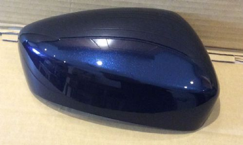 MAZDA 3 WING MIRROR COVER 2013 ONWARDS LH OR RH IN DEEP CRYSTAL BLUE